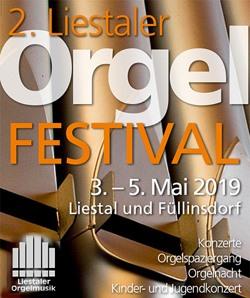 2019 Orgelfestival Liestal Flyer und Programm